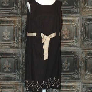 Cato Cotton dress with embroidery and belt